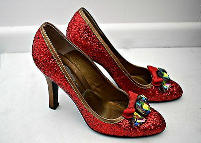 Dorothy Wizard of Oz Red Sparkly Shoes / Heels Cosplay, Costume