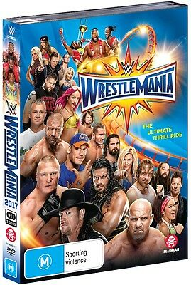 BRAND NEW WWE - Wrestlemania 33 (DVD, 2017, 3-Disc Set) R4 XXXIII
