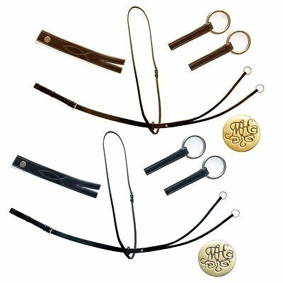 Mountain Horse Equestrian Leather Rubber Stop Jumping Riding Running Martingale