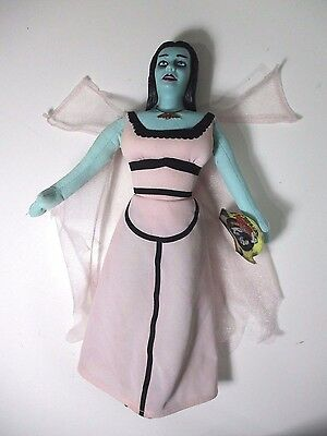 """The Munsters Lily Doll 13"""" by Toy Factory w Tag Carnival Plush w Plastic Head"""