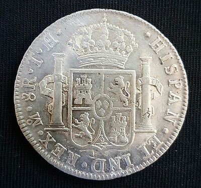 1807 Mexico Mint (Carolus 1111) Silver Spanish 8 Real Coin.. EF+