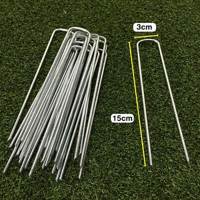 Garden Metal Securing U Pins Pegs Strong Weed Fabric Netting Ground Nails Turf