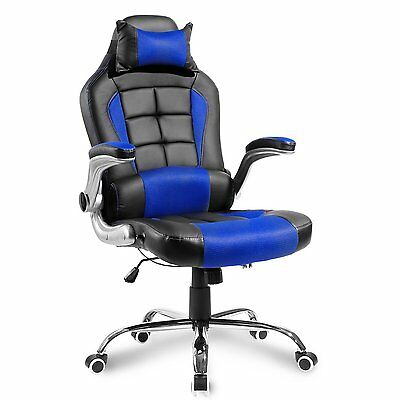 Merax High Back Racing Gaming Computer Desk Office Chair PU Leather Mesh Chair