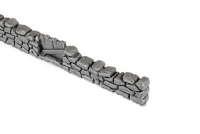 Dry Stone Wall and Gate Unpainted by WWS Pack of 3 - Dioramas, Layouts, Terrain