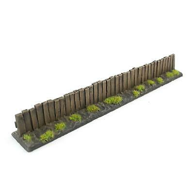 Wooden Fence Section by WWS Pack of 9 - Dioramas, Layouts, Terrain
