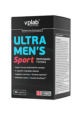 Ultra Men's Sport Vitamins (VPLab), Super Strong Complex, Natural, 90 caps