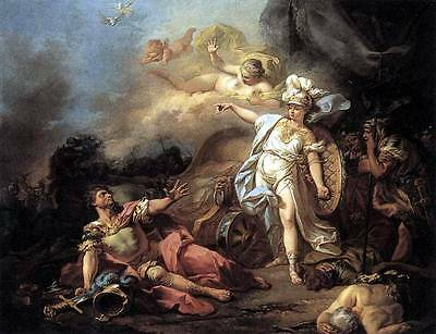 Ölbilder Ölgemälde Gemälde The Combat of Mars and Minerva 60x80cm