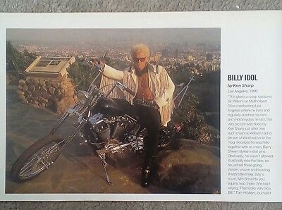 """BILLY IDOL - ORIGINAL + RARE PICTURE Approx. 9"""" by 6"""""""