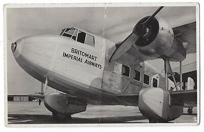 AVIATION Britomart Imperial Airways, Official Photograph, Postcard by Tuck Unuse