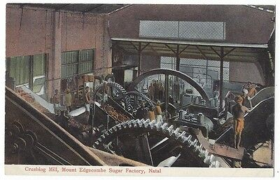 SOUTH AFRICA Crushing Mill, Mount Edgecombe Sugar Factory, Natal, GWW Postcard