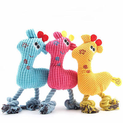 Fun Pet Puppy Chew Squeaker Squeaky Plush Sound Giraffe For Pet Dog Playing Toys