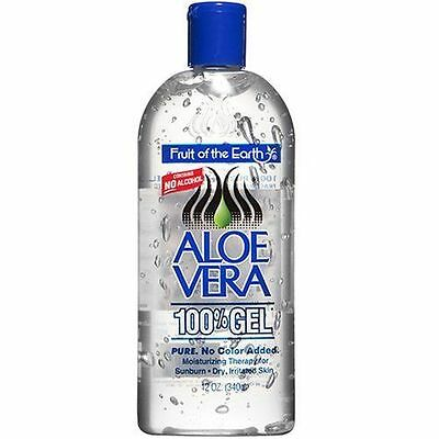 Fruit Of The Earth Aloe Vera 100% Gel, No Alcohol - 340g/56g