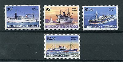 Trinidad and tobago 1985 battelli boats 522-25 MHN