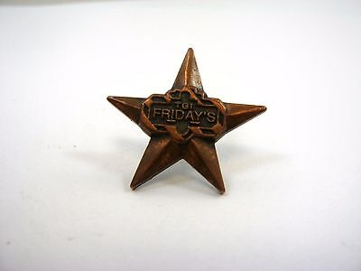 Vintage Collectible Pin: TGI Fridays Star Design