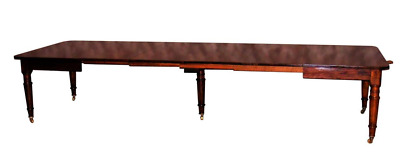 Long Antique Mahogany Victorian Dining or Conference Table, circa 1850