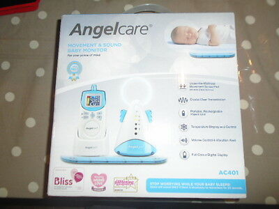 Angelcare AC401 Movement and Sound Baby Safety Monitor with Sensor Pad/Mat NEW