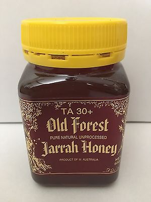 Old Forest Total Active Jarrah Honey TA30+ 500g per Jar Healthy Unprocessed Pure