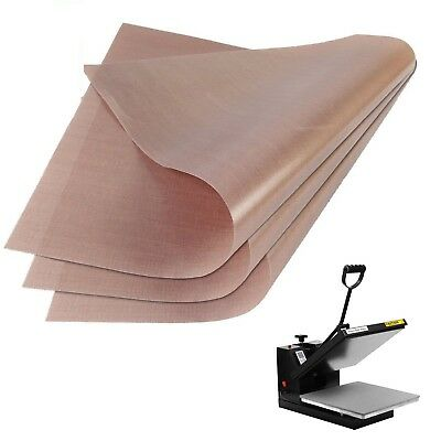 TEFLON SHEET Heat Press Transfer Sheets 16x20 Non Stick Reusable Mat 3 Pack Mats