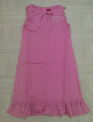 Girl's Casual One Piece Pink Cotton Blended Sleeveless The Day Girl Age 10 to 11