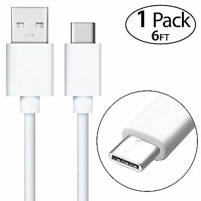 6ft Extra Long Fast Rapid Charging Type C USB Charger Cable for LG G6 G7 G8 V50