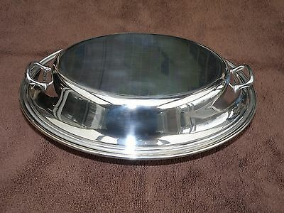 Gorham Silver Plated Contemporary Style Covered Double Entree Dish