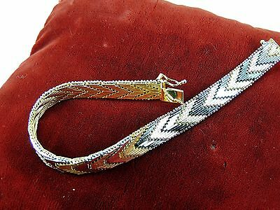 MILOR Solid 925 Sterling Silver Jewelry Bracelet Vintage Estate RICCIO Italy