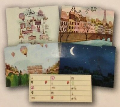 4 File Folders & 15 Tab Labels Paris Eiffel Tower Decorative Life Canvas