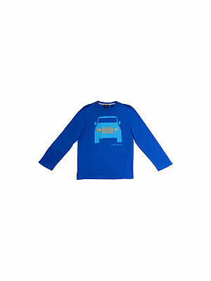 Official Land Rover Merchandise Boys Defender Print Long Sleeve Tee Indigo