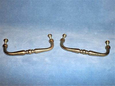 "Lot of 2 Vintage Brass Drawer Pull Handle 3 1/2"" on Center"