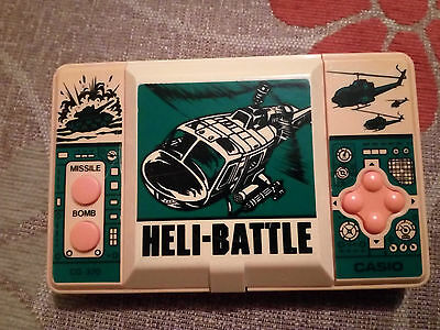 Retro / Vintage Lcd Game - Casio Heli-Battle 1987 - Tested All Work