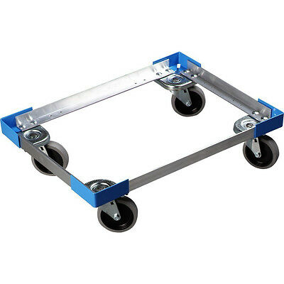 Aluminum Carrier Dolly Insulated Food Pan Casters Caterer Mobile Meal Transport
