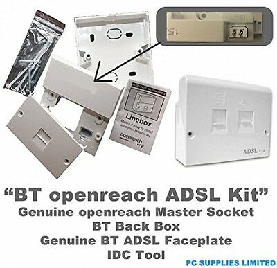 GENUINE BT ADSL KIT - GENUINE BT OPENREACH BRANDED NTE5a Master Socket Box And