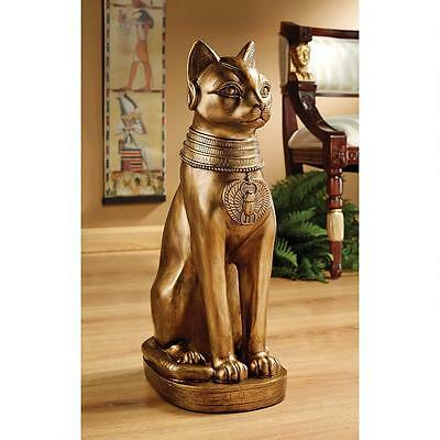 ©Golden Bastet of Ancient Egypt Statue Indoor Egyptian Culture Decor