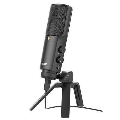 RODE NT-USB USB Condenser Microphone Includes Tripod stand, pop shield and ring