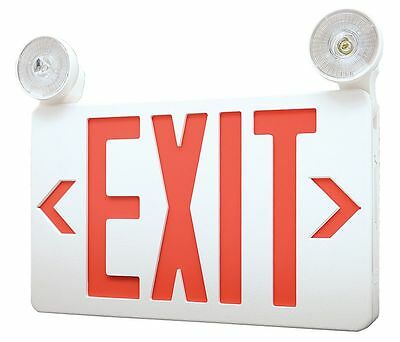 LumaPro LED Exit Sign with Emergency Lights, Red