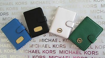 NWT Michael Kors Leather Jet Set Item or Fulton Passport Case Wallet