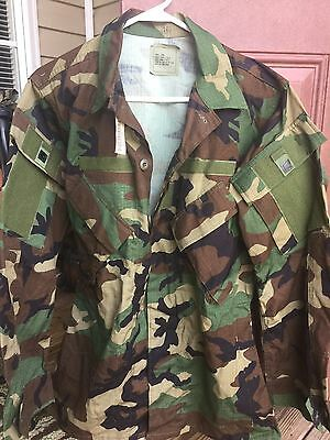 LOT of 4 - NWT NEW TAGS Small - Long BDU Woodland MODIFIED Blouse Uniform Army