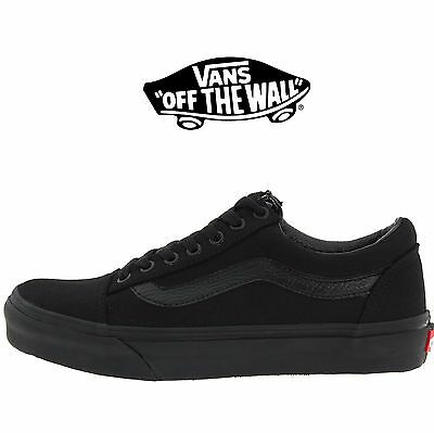 f38215cee70e2d Mens Vans Old Skool Fashion Sneaker Core Classic Black Canvas Suede All  Size NEW
