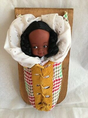 Vintage Native American Baby DOLL in Papoose