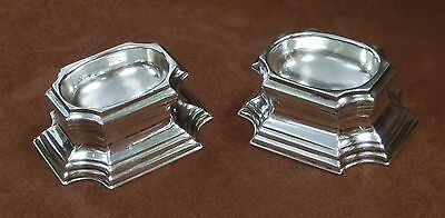 Rare Pair of 1726 George Ist Silver Trencher Salts - Glover Johnson, London