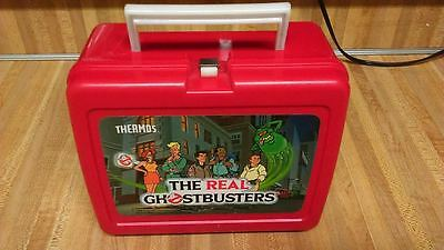 Vintage The Real Ghostbusters Plastic Lunchbox,1986,no thermos,gd!