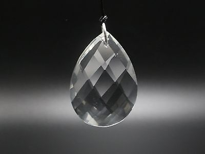 "5 Crystal Large Pear Teardrop Prism Sun Catcher DIY Pendant 50mm/2"" Chandelier"