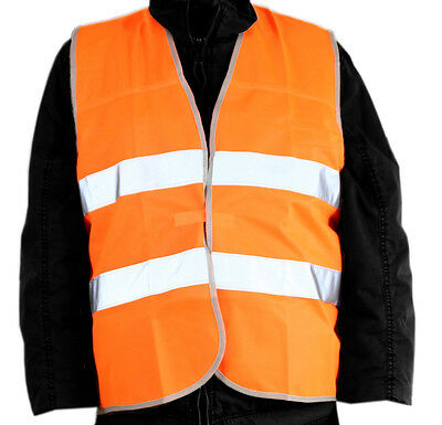 Warning vest orange Standard EN ISO 20471 2013 Safety vest retroreflective