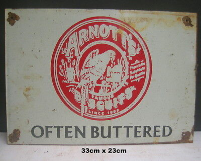 Arnott's Biscuits  Often Buttered Biscuits Tin Sign