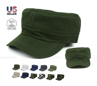 Men Women Military Hat Army Cadet Patrol Castro Cap Golf Baseball Summer Castro