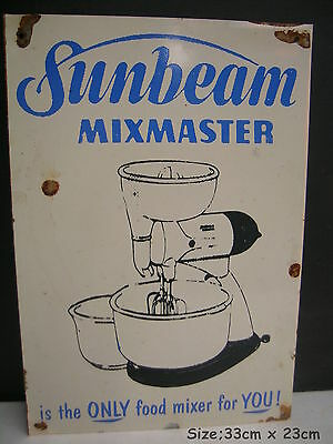 Sunbeam Mixmaster The Only Mixer For You Tin Sign Freepost Australia