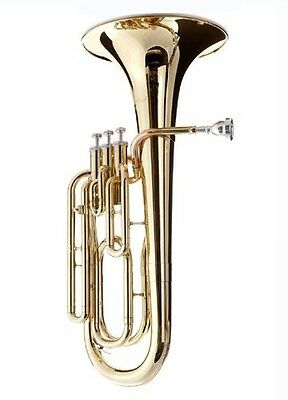 Student 3 Valves Gold Lacquered Baritone Horn SBAR. Best Price