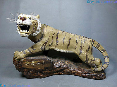 """11"""" China handmade competitive products Pottery sculpture fine Tiger Statue"""