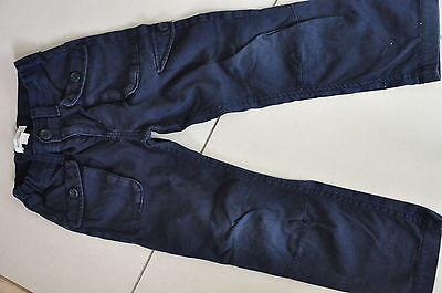 COUNTRY ROAD Boys cargo pants Navy Blue Size 4 Excellent condition