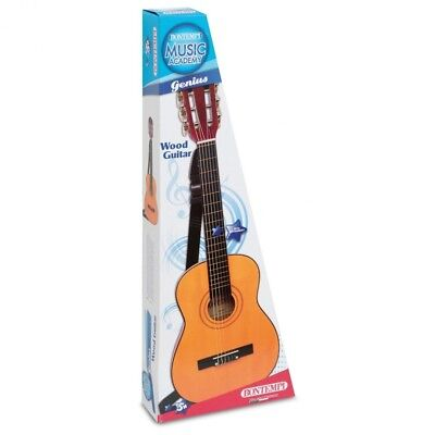 Bontempi Classic Wood Guitar - 85cm. Shipping is Free